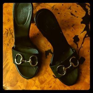 EUC Gucci horsebit heels mules
